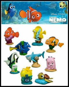 9 Finding Nemo Squirt Dory Action Figures Doll Cake Topper Decor Kids Toy Child