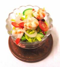 1:12 Handmade Prawn Salad In A 2cm Plastic Dish Dolls House Kitchen Accessory