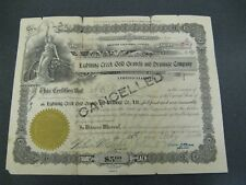 1920 Lightening Creek Gold Gravels & Drainage Company Stock Certificate  B.C