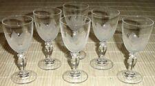 6x Kristallglas LIKÖRGLÄSER mit Bodenblätter-Design - Laubblätter