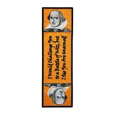 """Bookmark Sew-On Patch Shakespeare """"Battle of Wits"""" Quote Theatre Craft Accessory"""