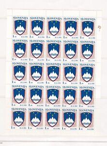 L9) FrancobolliSlovenia 1991 MNH ** 4 minifogli serie completa
