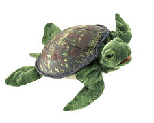 Sea Turtle Hand Puppet w/Moveable Head & Flippers, Folkmanis MPN 3036, 3&Up