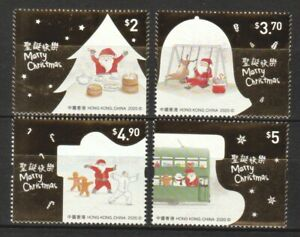 HONG KONG CHINA 2020 CHRISTMAS STAMPS IV GUM BASE COMP. SET OF 4 STAMPS IN MINT
