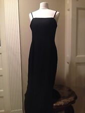 Womens 14•J.R. NITES by CALIENDO•Sexy-Black Sleveless Full Length Formal Dress