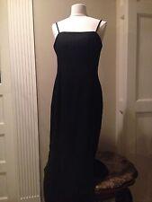 Womens 14•J.R. NITES by CALIENDO•Sexy-Black Sleveless Full Length Formal Dress