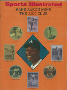 1970 SPORTS ILLUSTRATED May 25 HANK AARON #3000 No Label NEWSSTAND ISSUE - EX