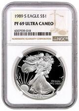 1989-S 1 Oz Proof American Silver Eagle $1 NGC PF69 UC SKU16369
