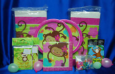Monkey Love Party Set # 16 Monkey Love Party Supplies Tablecloth Monkey Favors