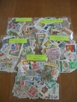 500 WORLD STAMPS,5X100 STAMPS, OFF PAPER, ONLY £4.75p .