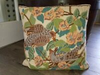 """16"""" Vintage Hand Crafed Wool Needlepoint Pillow Cushion Cottage Farmhouse Pillow"""