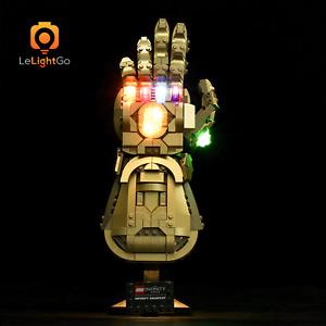LED Light up Kit for 76191 Infinity Gauntlet Marvel Bricks light 76191 Gauntlet