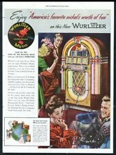 1946 Wurlitzer 1015 jukebox bubbler America's Favorite vintage print ad