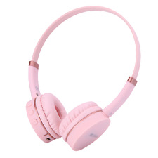 Rockpapa Adjustable Kids Childs Boys Girls Bluetooth Headphones Wireless Headset Pink