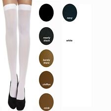 3 Pairs 15 Denier Ladies Women's Sheer Luxury Hold Up Stockings One Size
