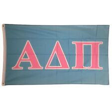Alpha Delta Pi Light Blue/Light Pink Letter Flag 3' x 5' ADPi