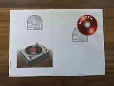 Schweiz, FDC Ausschnitt Sonderblock Schallplatte/vinyl record