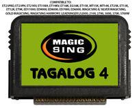 MAGIC SING KARAOKE MIC SONG Chip 874 MIX Tagalog & English Song W SONG LIST TAG4