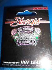 STURGIS 2012  BLACK HILLS MOTORCYCLE RALLY   PINK 72 YEARS EMBLEM PIN LADY BIKER
