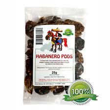 Secchi Peperoncino - Interi Secchi Habanero Capsule 10g Per 1kg. Massima Qualità