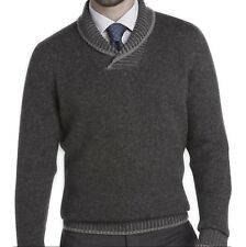 Joseph Abboud Men's Gray Shawl Collar Sweater Size XL