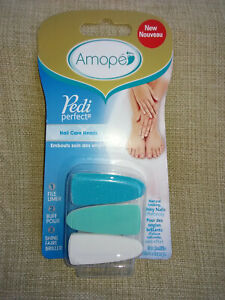 1 pkg of 3 Amope Pedi Perfect Electronic Nail Care System Refill Heads