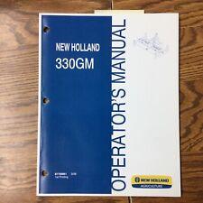 New Holland 330gm Finish Mower Operator Manual Operation Maintenance 87758961