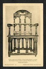 C1920's View of the Chair Made from Timber of the Golden Hind Ship