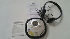 Jwin Jx-Cd313 Personal Portable Auto Cd Player Headphones Instructions Tested