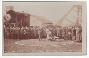 NAVAL COLLIERY . MRS D A T THOMAS CUTTING THE 1st SOD NOV 4 09