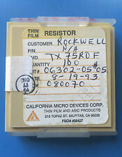 TX75R0F CALIFORNIA MICRO DEVICES RESISTOR THIN FILM ASIC 100/units total