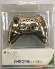 Microsoft Xbox 360 Special Edition Chrome Series Gold Color Free Shipping