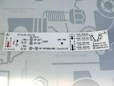 Original Mercedes Motor-Aufkleber für Motor M102.991 im W201 190E 2.5-16 EVO 1