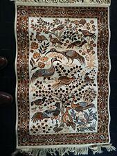 Lot de deuxTapîs, descentes de lits,laine, Carpet, oiseaux, persan, ibis