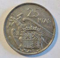 Spanien / España - 25 Peseten 1957 - Francisco Franko (1939 - 1975) vz+ / xf+