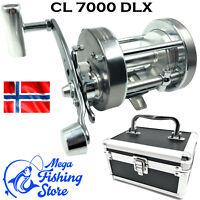Norwegen CL 7000 DLX Metall Multirolle - Meeres Rolle / Angelrolle inkl. Koffer