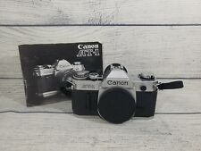 Canon At-1 Vintage Camera Body Only 35mm Film Camera.Lever Works Clicks W/Manual