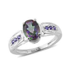 Northern Lights Mystic Topaz SS ring size 9
