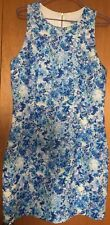 Forever New Floral Bodycon Dress Size 14 Blue White Yellow