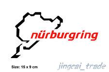 Black & Red Color Nurburgring Motor Sport Car Auto Vinyl Sticker Decal Big Size