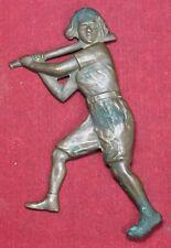 Ladies Baseball Player Brass Door Pull Handle - AAGPBL? - Woman - Vintage