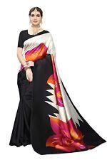 Designer Indian Bollywood Sari,Party Wear Black Art Silk Saree, Saree Blouse
