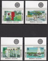 MPOL022) 1991 BIOT, Government Services, set of 4, MUH