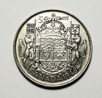 Canada 1946 Silver 50 Cents Half Dollar Coin Design In 6