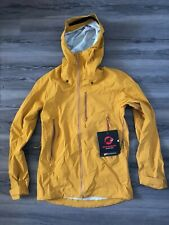 Mammut Men's Kento HS Hooded Jacket | Large, Golden, Dry technology