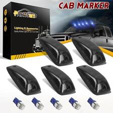 5xSmoked Cab Roof Marker Light+Blue 161 5-5050 LED For 88-02 Chevy C/K 1500-3500