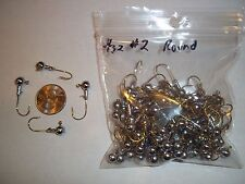 3/32oz #2 ROUND HEAD LEAD HEAD JIG EAGLE CLAW - GOLD 100ct