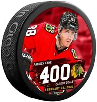 Patrick Kane Chicago Blackhawks 400 NHL Goals Scored Collectors Hockey Puck
