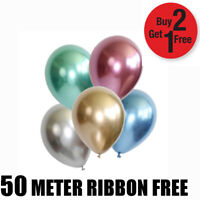 "12"" Metallic Pearl Chrome Latex Ballons for Wedding Birthday Party 10-100PCS"