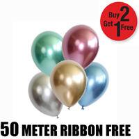 "12"" Metallic Pearl Chrome Latex Ballons for Wedding Birthday Party 10-100PCS"